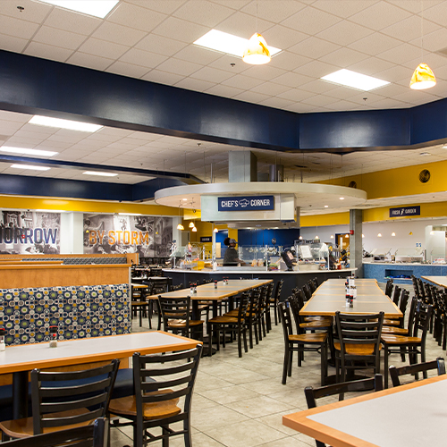 """Dining Hall (""""The Caf"""")"""