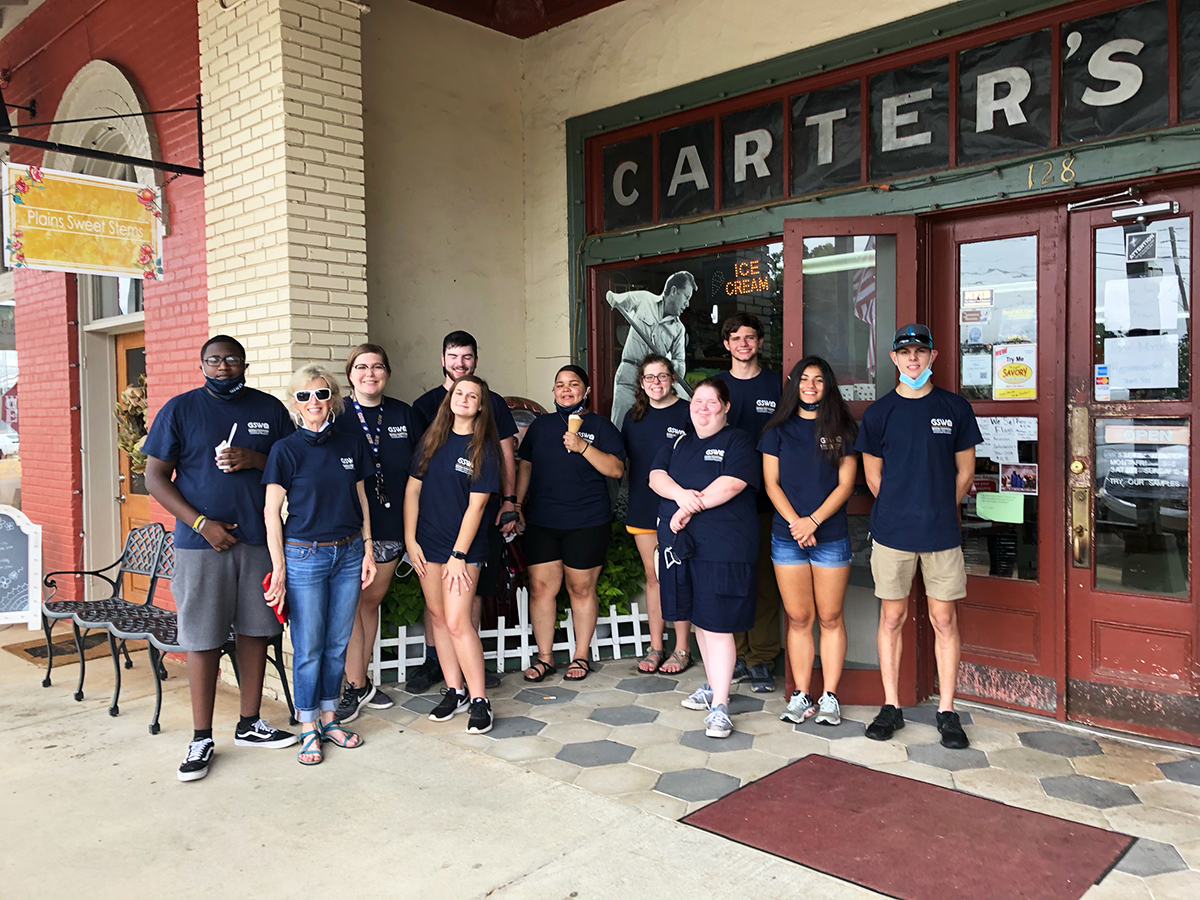 Students in front of Carter's