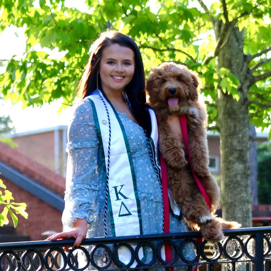 Savannah Hall with dog
