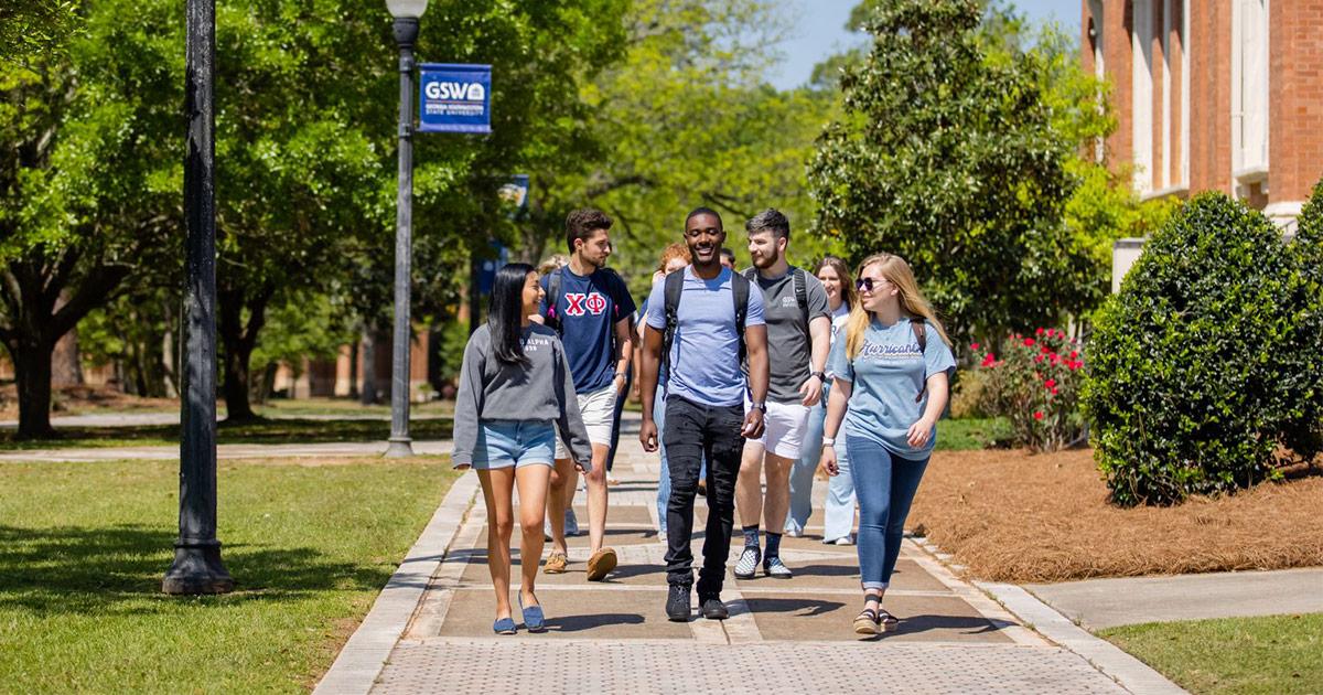 GSW Students Walking